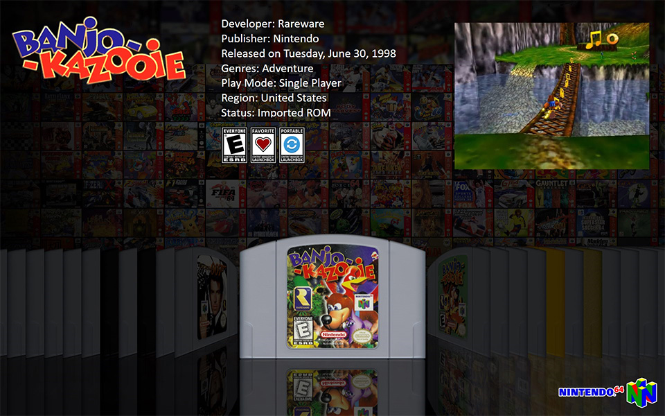 LaunchBox Big Box - Banjo Kazooie